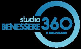 Studio Benessere 360 Logo: nome e cerchio blu