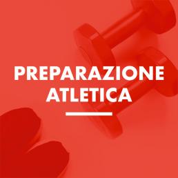 Scritta preparazione atletica. Immagine di Pesetti su foto rossa
